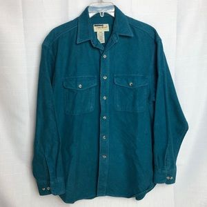 Eddie Bauer green chamois shirt M